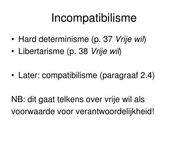Incompatibilisme