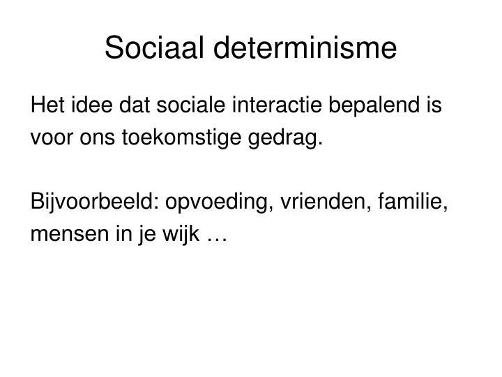 Sociaal determinisme