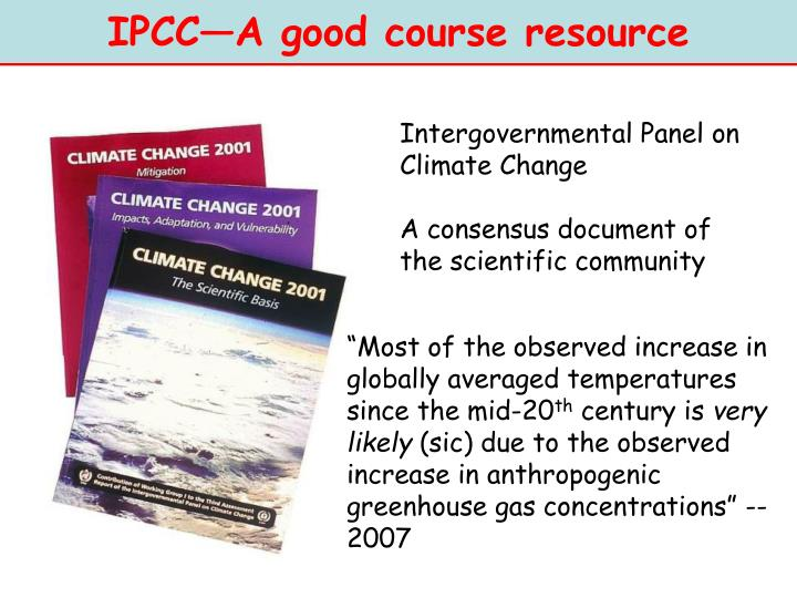 IPCC—A good course resource