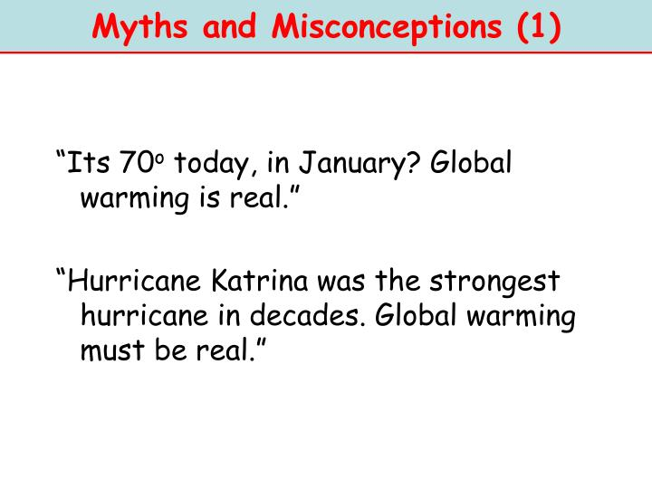 Myths and Misconceptions (1)
