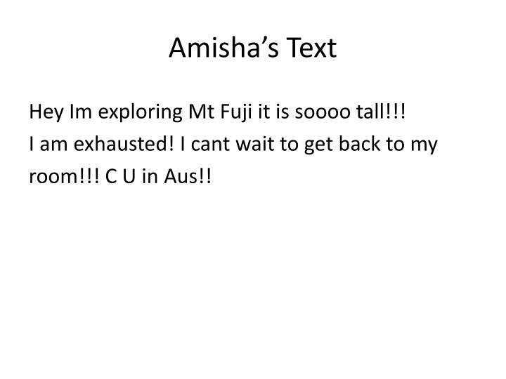 Amisha's