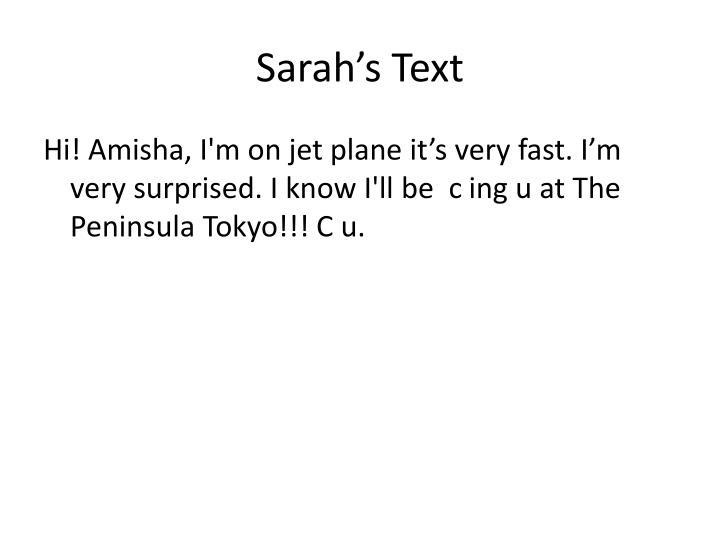 Sarah's Text