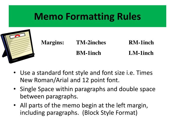 Memo Formatting Rules