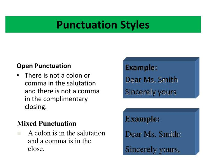 Punctuation Styles