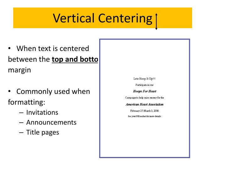 Vertical Centering