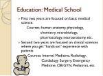 education medical school