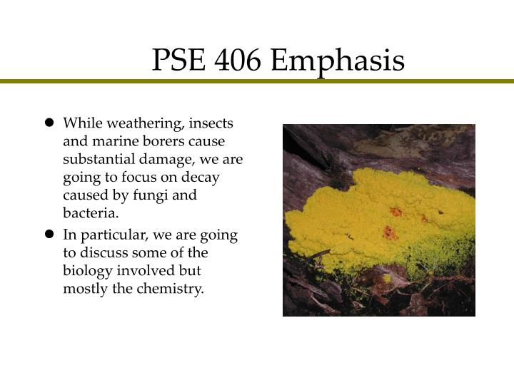 PSE 406 Emphasis