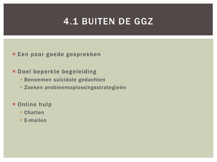4.1 Buiten de GGZ