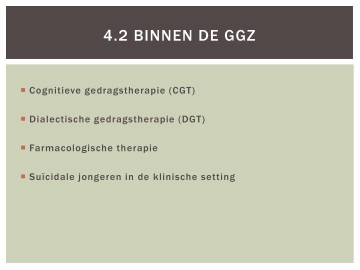 4.2 Binnen de ggz