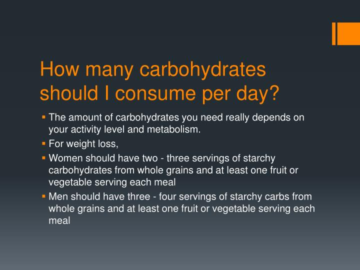 How many carbohydrates should I consume per day?