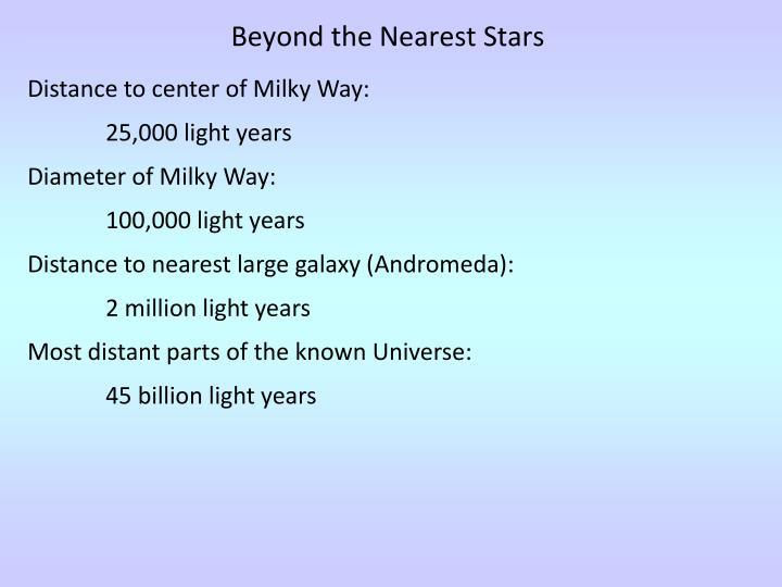 Beyond the Nearest Stars