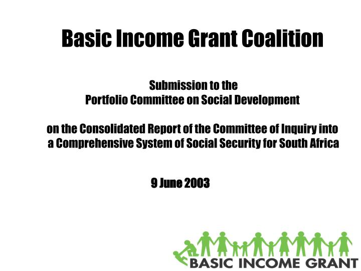 Basic Income Grant Coalition