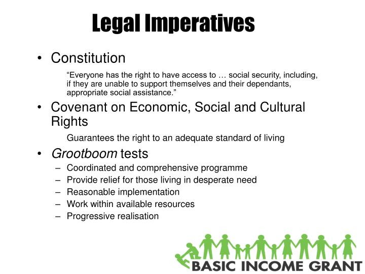 Legal imperatives