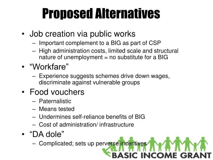 Proposed Alternatives