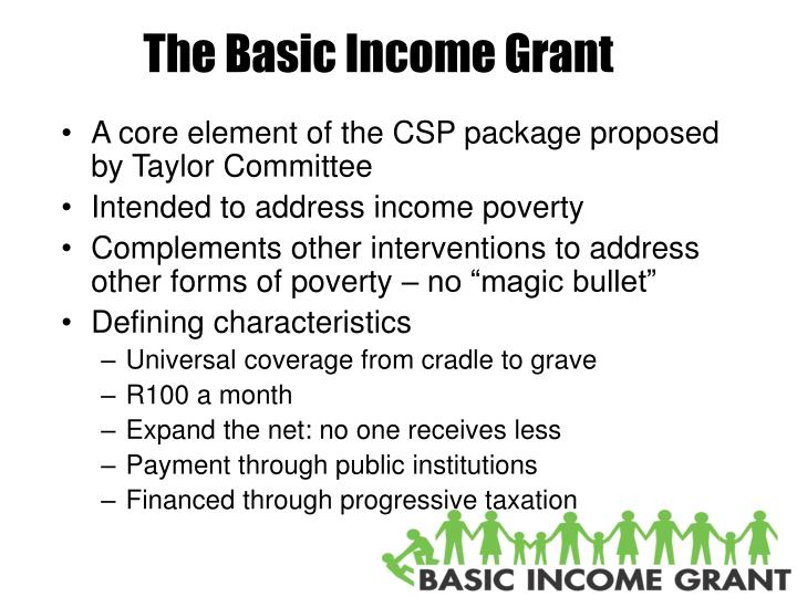 The Basic Income Grant