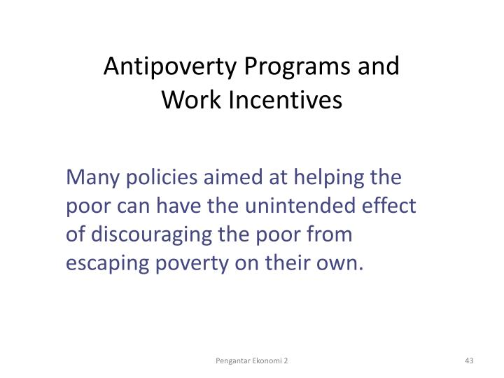 Antipoverty Programs and