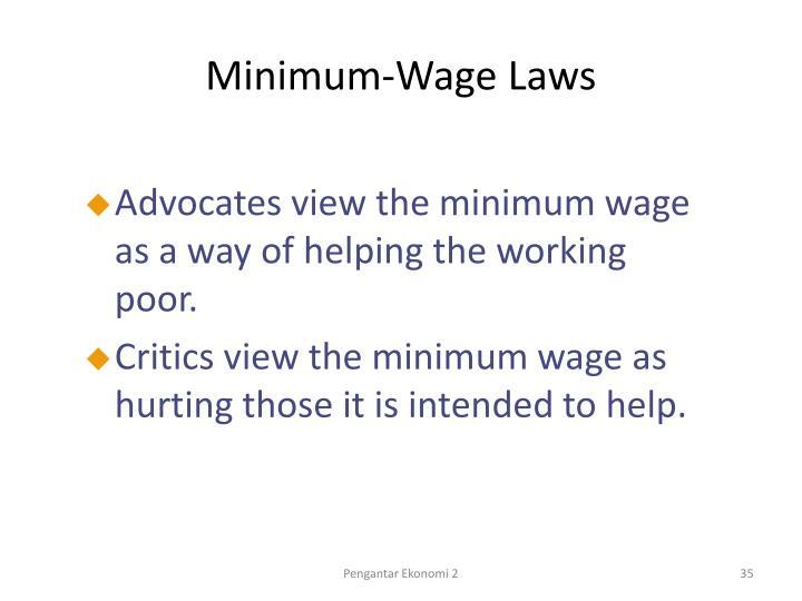 Minimum-Wage Laws