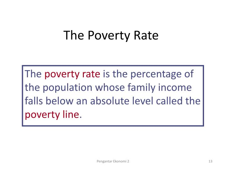 The Poverty Rate