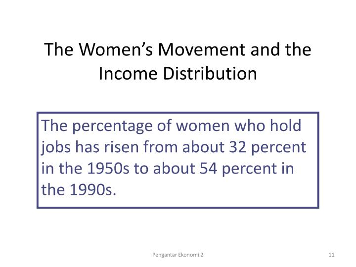 The Women's Movement and the Income Distribution