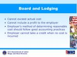 board and lodging