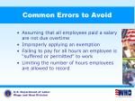 common errors to avoid1