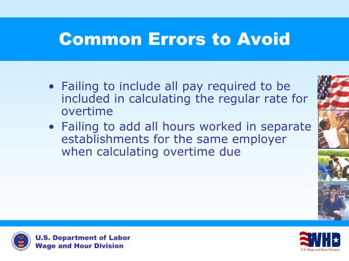Common Errors to Avoid