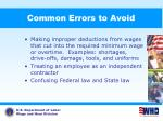 common errors to avoid3