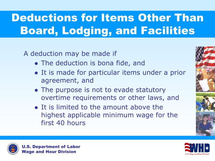 Deductions for Items Other Than