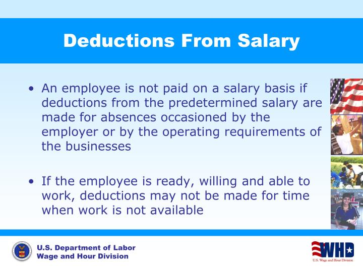 Deductions From Salary