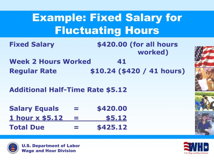 Example: Fixed Salary for Fluctuating Hours