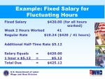 example fixed salary for fluctuating hours1