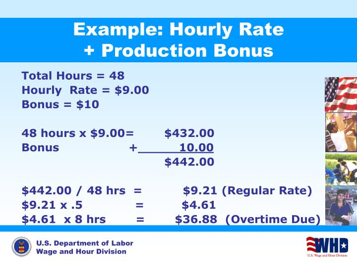 Example: Hourly Rate