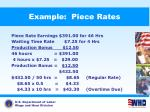 example piece rates