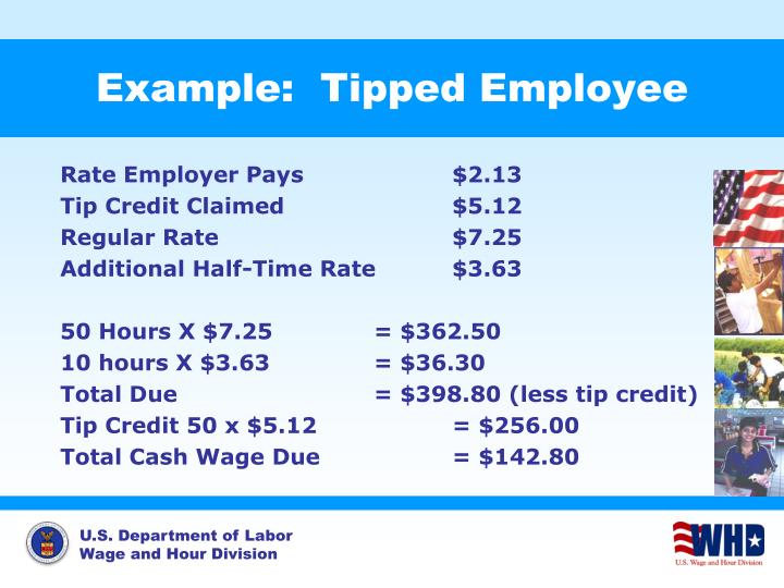 Example:  Tipped Employee