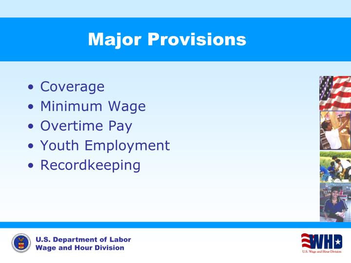 Major Provisions