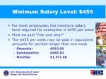 minimum salary level 455
