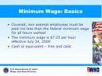 minimum wage basics