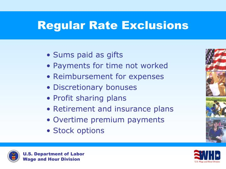 Regular Rate Exclusions