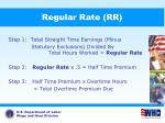 regular rate rr