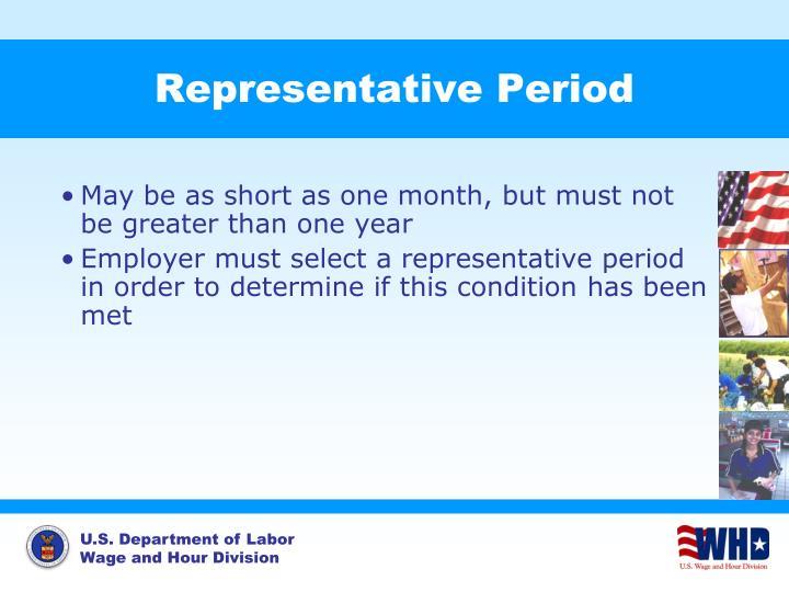 Representative Period