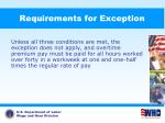 requirements for exception1