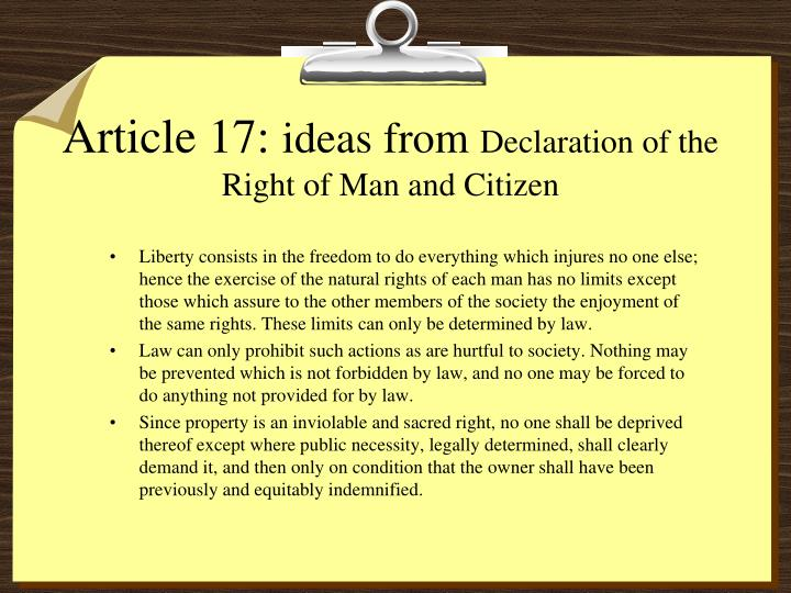 Article 17: