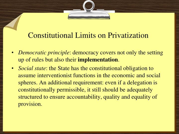 Constitutional Limits on Privatization