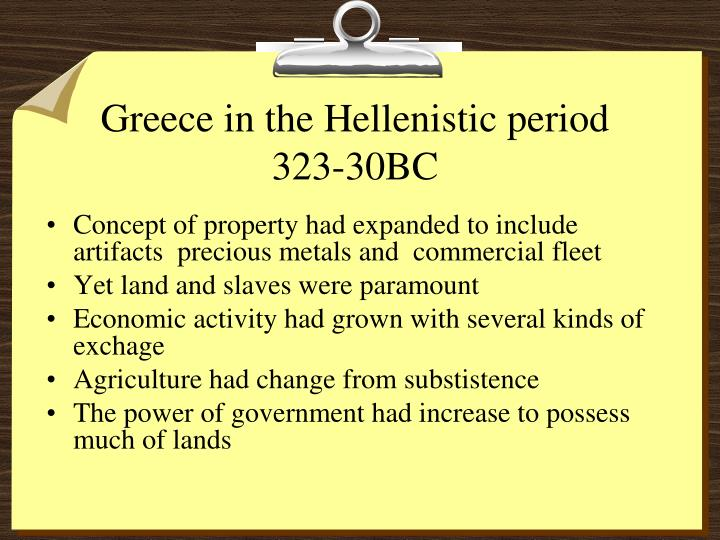 Greece in the Hellenistic period