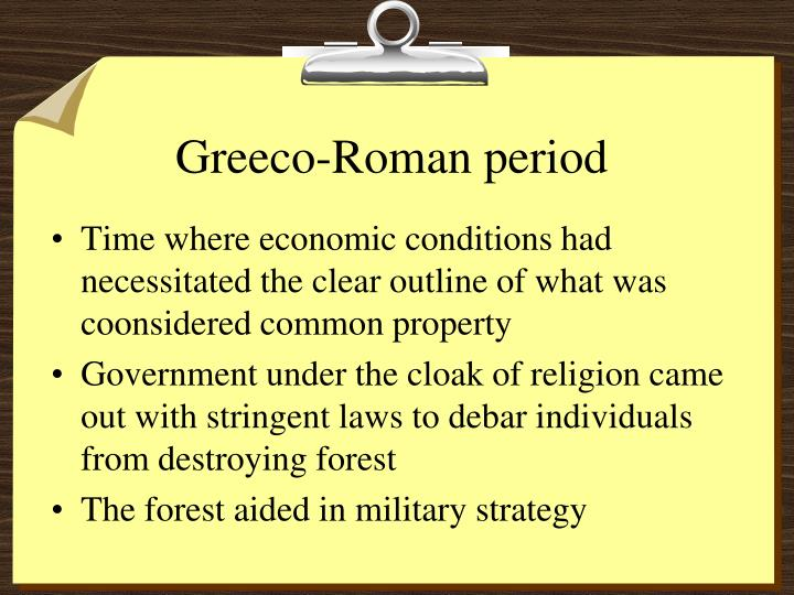 Greeco-Roman period