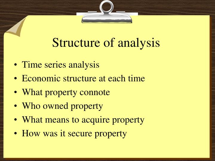 Structure of analysis