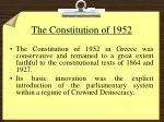 the constitution of 1952