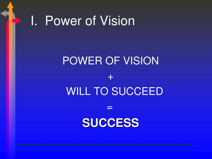 I.  Power of Vision