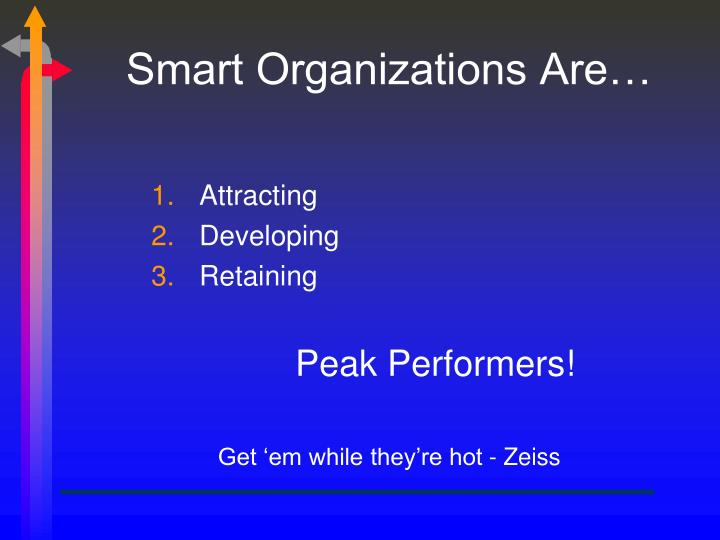 Smart Organizations Are…