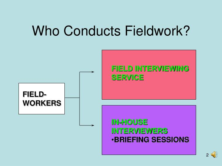 Who conducts fieldwork